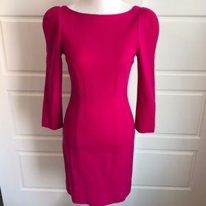 DVF Magenta Bodycon Dress, Size 4